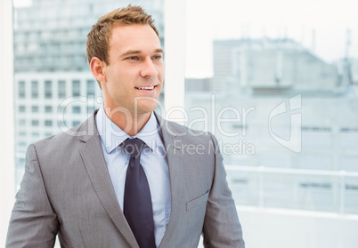 Smart young businessman in suit