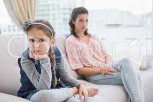 Mother and daughter not talking after argument