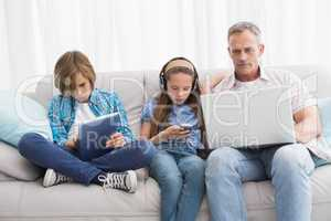 Family focus on wireless technology