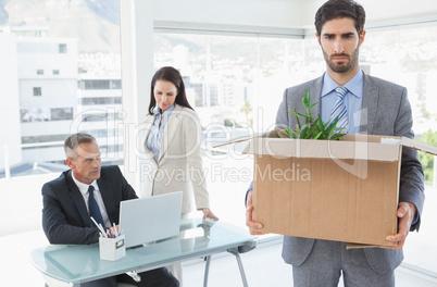 Staff member being let go