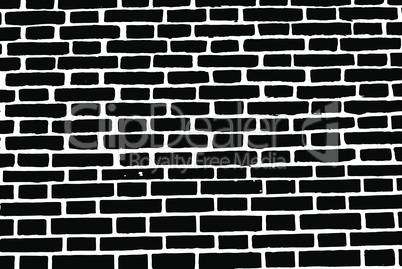 Black brick wall texture background old rough masonry