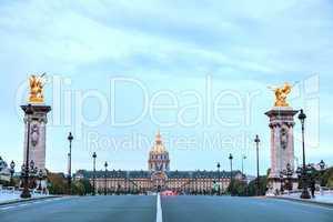 Les Invalides building in Paris