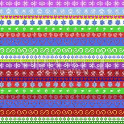 Christmas striped seamless pattern