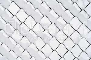 wire netting in winter