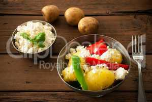 Healthy Food On A Wooden Background