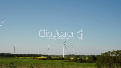 Five big windmills on standby FS700 4K Odyssey7Q