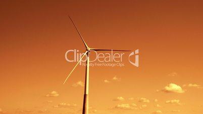 One big windmill on a field 4K FS700 Odyssey 7Q