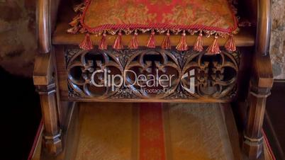 The details of the kings chair from the old castle GH4 4K UHD