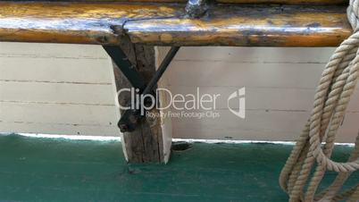The wooden details of the old galleon ship GH4 4K UHD
