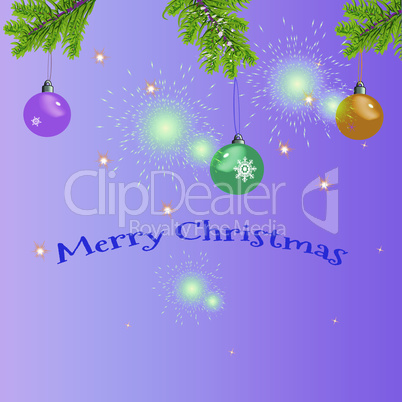 Christmas greeting card with the greeting text