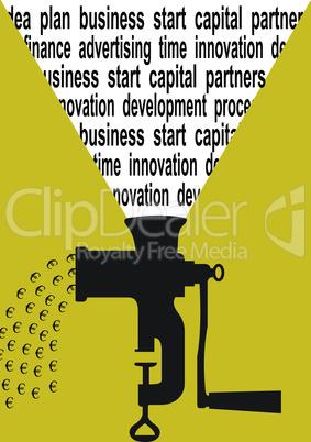 Business concept euro