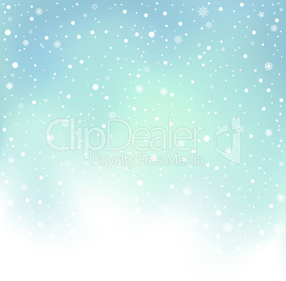 winter day snow background