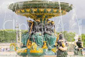 Fountain in Place de la Concorde - Paris, France