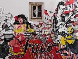 Graffitikunst in Lissabon