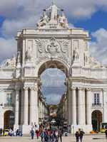 Platz des Handels in Lissabon
