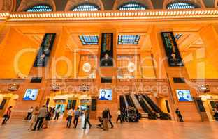 NEW YORK, MAY 14: Commuters and tourists in the grand central st