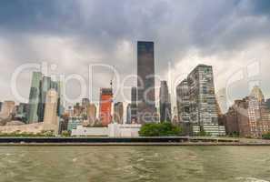 Buildings of New York. Manhattan skyline