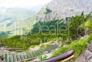 Alps landscape in summer season. Dolomites, Italy