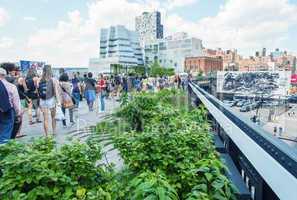 NEW YORK - CIRCA MAY 2013: The High Line Park, New York, circa M