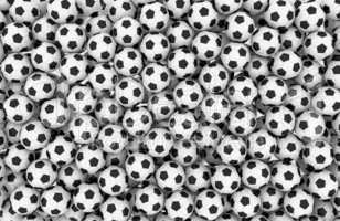 Soccer balls wall