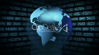 Global Finance Stock Market Animation