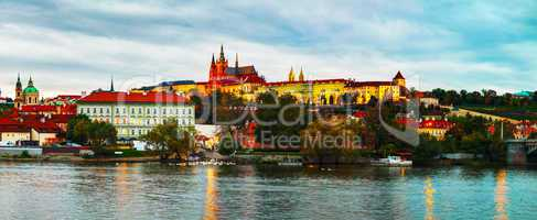 Panoramic overview of old Prague