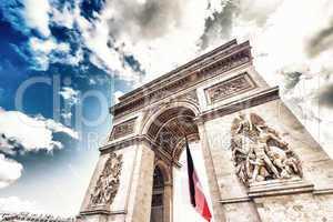 Bottom-Up view of Triumph Arc in Paris