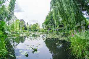 Famous gardens of Monet's House in Giverny, France