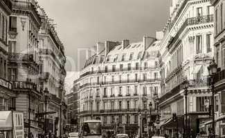 PARIS, JULY 20, 2014: Tourists along city streets. More than 30