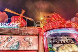 PARIS - MAY 24, 2014: The Moulin Rouge cabaret in Paris, France.