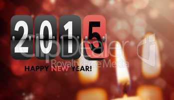 Composite image of happy new year 2015