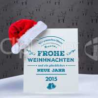 Composite image of german christmas greeting