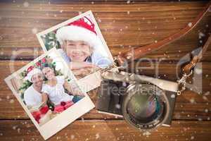 Composite image of christmas memories