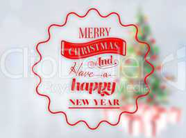 Composite image of  logo wishing a merry christmas