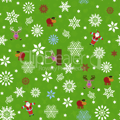 Seamless pattern for Christmas motifs