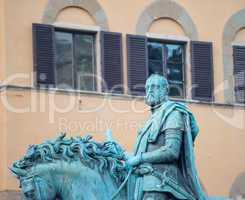 Equestrian statue of Cosimo I de' Medici on the Piazza della Sig