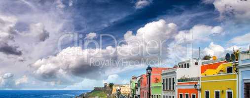 Colourful homes of San Juan, Puerto Rico