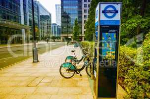 LONDON - SEP 27: Barclays Cycle Hire docking station on Septembe