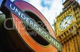 LONDON, UK - SEPTEMBER 27, 2013: Symbols of London - Underground