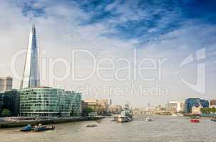 London. River Thames with city landmarks