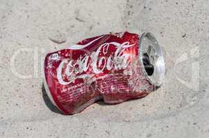 Empty Coca Cola can