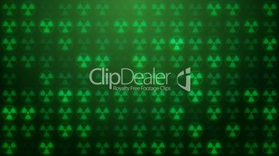 Nuclear radiation symbol screen loop background