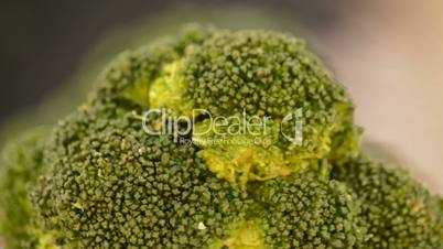 Broccoli loop.Close up.
