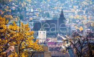 View of Brasov old city located in the central part of Romania