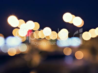 defocused background night city lights