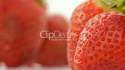 Fresh strawberries rotating, loop
