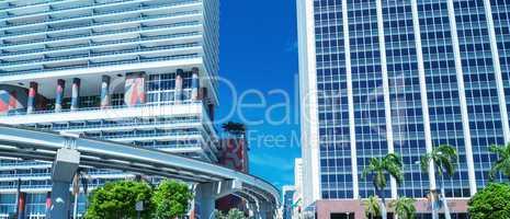 Sunny roads of Miami, Florida, USA