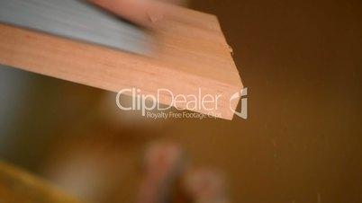 Wood planer working in flamenco guitar