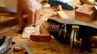 Wood planer in workplace