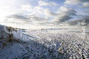 Dünenlandschaft im Winter